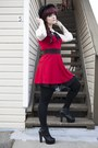 Black-litas-jeffrey-campbell-boots-ruby-red-bustier-dress-dress