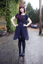 black caden booties Blowfish boots - black vintage dress