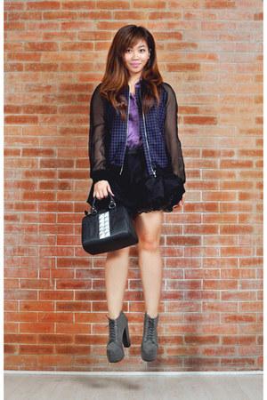 platform Soule Phenomenon boots - H&M jacket - studded Aranaz bag