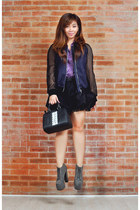 platform Soule Phenomenon boots - H&M jacket - studded Aranaz bag