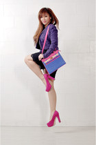 hot pink platform Call it Spring pumps - violet Culte Femme jacket