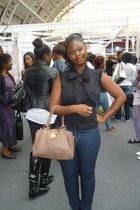 Primark jeans - Primark bag - H&M top