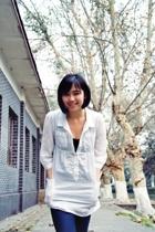 FCUK dress - FCUK vest - Zara leggings