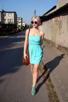 turquoise blue dress - turquoise blue wedges