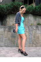 luuluu heels - szafomania dress - Hema cardigan