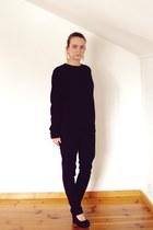 sweatshirt - pants - wedges
