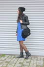Black-leather-oasapcom-boots-navy-cotton-zara-dress