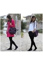 purple leather Bag bag