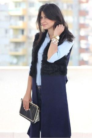 navy Sheinside coat