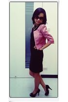 black dress up dress - pink Assisi jacket
