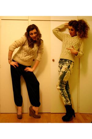 Ralph Lauren jeans - Primark sweater - H&M romper - new look wedges - Raxmax boo