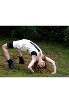 TKmaxx shorts - Topshop socks - Topshop shoes - danskin intimate - Eryn Brinie t