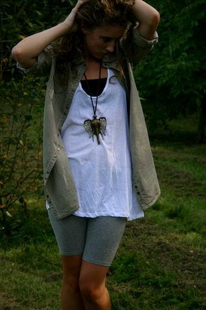 Topshop shoes - Zara shorts - Zara shirt - Topshop top - BLANCO necklace