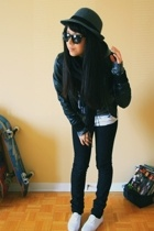Urban Outfitters hat - Urban Outfitters glasses - H&M scarf - H&M jacket - Ameri