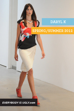 dark gray printed Daryl K top