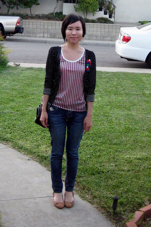 Aldo shoes - Cest Toi jeans - coach bag - feather Forever 21 earrings