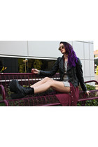 UNIF boots - Yesstyle sweater - WholesaleCelebShades sunglasses
