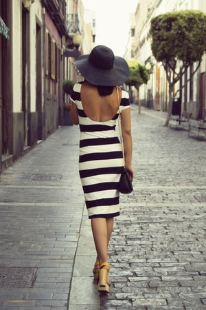 H&M hat - Zara dress - Zara sandals