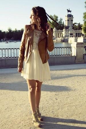 Zara boots - pull&bear dress - Zara jacket