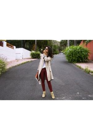 Zara boots - boots - Zara jacket - Zara pants