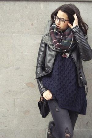 Zara scarf - Stradivarius jeans - Zara jacket - Zara sweater - Stradivarius bag