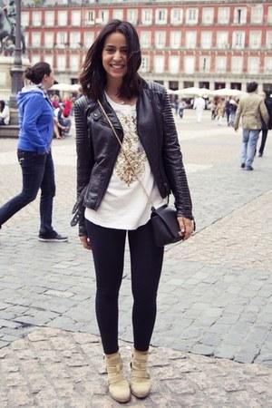 Zara boots - Zara jacket - Zara sweater - Parfois bag