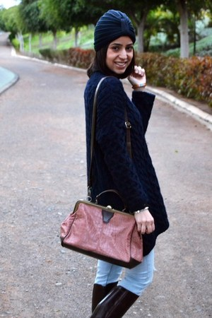 Zara sweater - Parfois bag - el corte ingles hair accessory