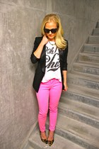 7 for all mankind jeans - BCBG blazer - westward leaning sunglasses