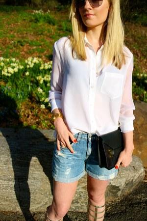 Equipment blouse - rag & bone shorts