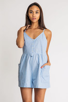 Speckled Chambray Romper
