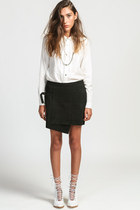 Suede Wrap Buckle Skirt