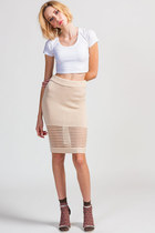 Knit High Waist Skirt