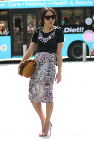 asos skirt - mustard Marni bag - dark brown round Marc Jacobs sunglasses