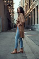 asos coat - snakeskin bag ATP Atelier bag - camel sandals ATP Atelier sandals