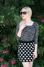 Black-square-lucy-mint-sunglasses-black-polka-dot-forever-21-skirt