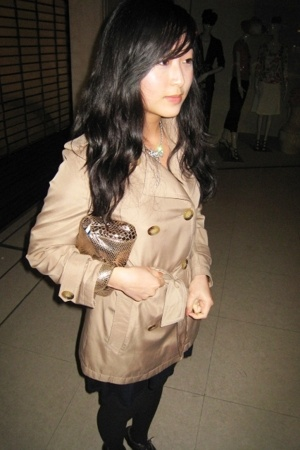 tailored coat - Abaco purse - Wolford tights - Zara dress