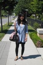 blazer - Carlos Santana accessories - Zara skirt - cotton on scarf - H&M vest -
