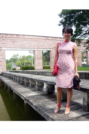 flea market dress - aigner purse - Vincci shoes