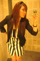 Forever 21 blazer - H&M dress - handmade necklace