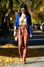 Blue-urban-outfitters-cardigan-brown-forever-21-boots
