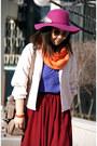 Magenta-forever-21-hat