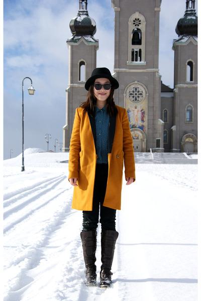 gold Topshop coat