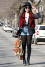 Gray-h-m-blazer-ruby-red-urban-outfitters-vest