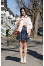 Light-pink-american-apparel-jacket-gray-american-apparel-skirt