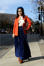 Tawny-urban-outfitters-shoes-blue-h-m-hat-carrot-orange-h-m-blazer