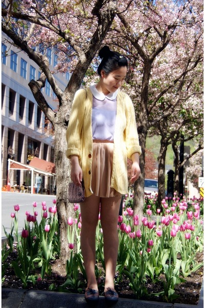 amethyst Lollipops bag - light yellow Urban Outfitters cardigan