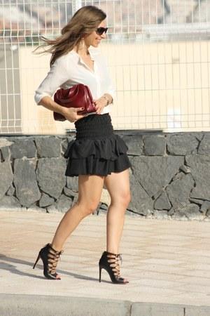 Maje skirt - beige Massimo Dutti blouse