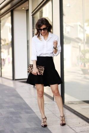 Diane Von Furstenberg bag - scarf - Valentino heels - Zara skirt
