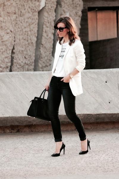7 for all mankind jeans - Michael Kors bag - Zara t-shirt