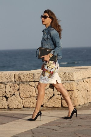 H&M skirt - Zara jacket - Michael Kors bag
